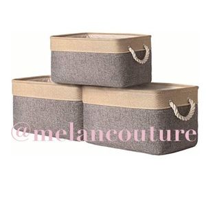 Storage Baskets Fabric Baskets [3 Pack]